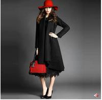 2015 High-end temperament new autumn winter woolen warm ladies long sleeve woolen overcoat