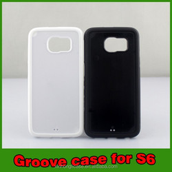 wholesale groove TPU PC raw case mobile phone case cover for samsung galaxy s6