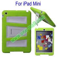New Arrival for iPad Mini 2 Silicon Plastic Case Cover (Green+white)
