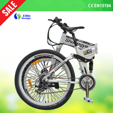 shuangye 2015 extended edition design electric foldable bicycle