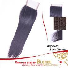 Cheap remy human hair brazilian virgin hair closure middle part 8inch straight hair lace closure free shipping