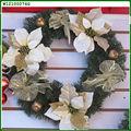 Ornamento artificial Decoración PVC blanco de Navidad