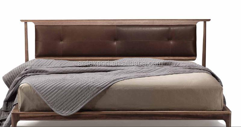 modern bed design furniture solid wood bed room furniture black walnut