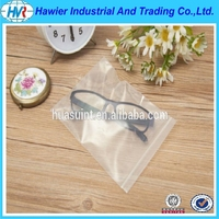 PE plastic transparent zipper bag for gift