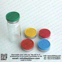 20mm 10ml white glass vials + rubber stopper + blue caps plastic