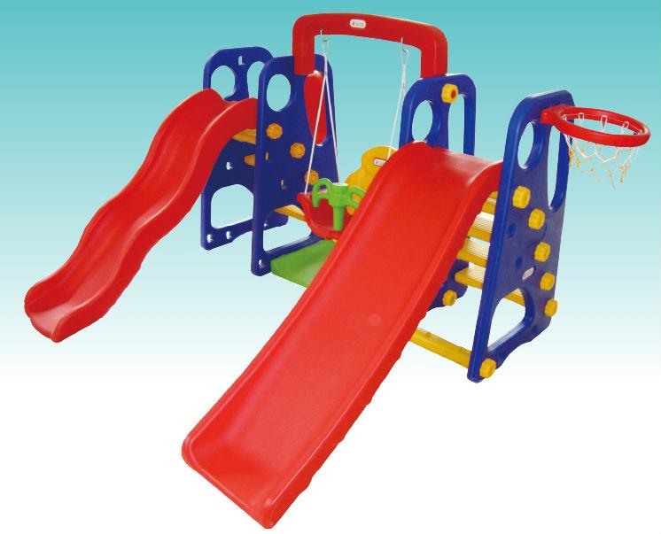 Toddler Swing With Slide Set Kids Plastic Swing With Slide