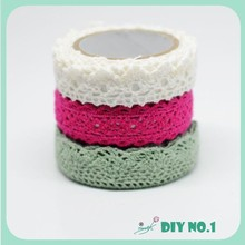 Decoration cotton lace adhesive tape