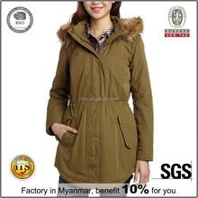New Design Korean Ladies Long Winter Coats