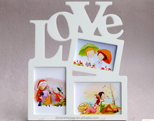 European style 3 pictures love photo frame wholesale gift items for wedding