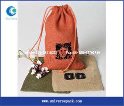 2016 Hot sale Mini drawstring Jute Bag wholesale