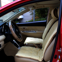 soft PVC leather seat cover car beige