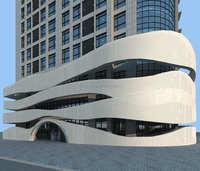 building external wall facades of waterproof membrane