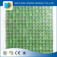 Xinxin hot sales bubble glass tile green polished bathroom wall tile