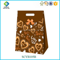 Latest Design Unique Square Bottom Paper Carry Bag , Shopping Bag