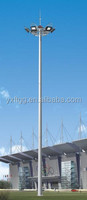 Lighting mast high polygonal steel post