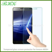 phone acessories 9H hardness tempered glass screen protector for lenovo A850+ , delicate touch screen protector