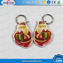 Cheap RFID TK4100 Epoxy Key Tag / Key Fob with String or Metal Keychain for Promotion (China Manufacturer)