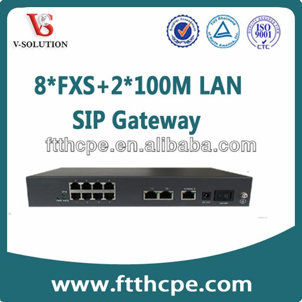 sip 8 fxs voip gateway