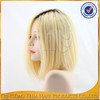 Fashion stock dark roots blonde full lace ombre human hair wigs
