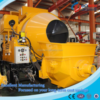 ISO&CE approved mobile concrete mixer with pump