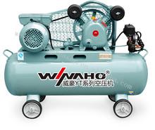 WEIHAO 140L industrial air compressor pump electric belt driven air compressor price list AC air compressor for sale