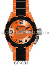 2 tone mens watch with japan movement watch