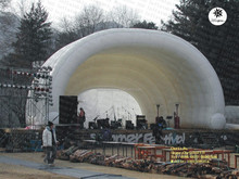 Big white outdoor inflatable stage cover tent