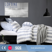 Original Design China factory cotton stripe bed linen/bed set/bedding sheet