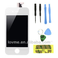 White Replacement LCD Touch Screen Digitizer Glass Assembly for iPhone 4 4G
