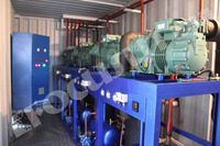 Highly improved technology industrial containerized water chiller for concrete cooling system/industrial water chiller/industria