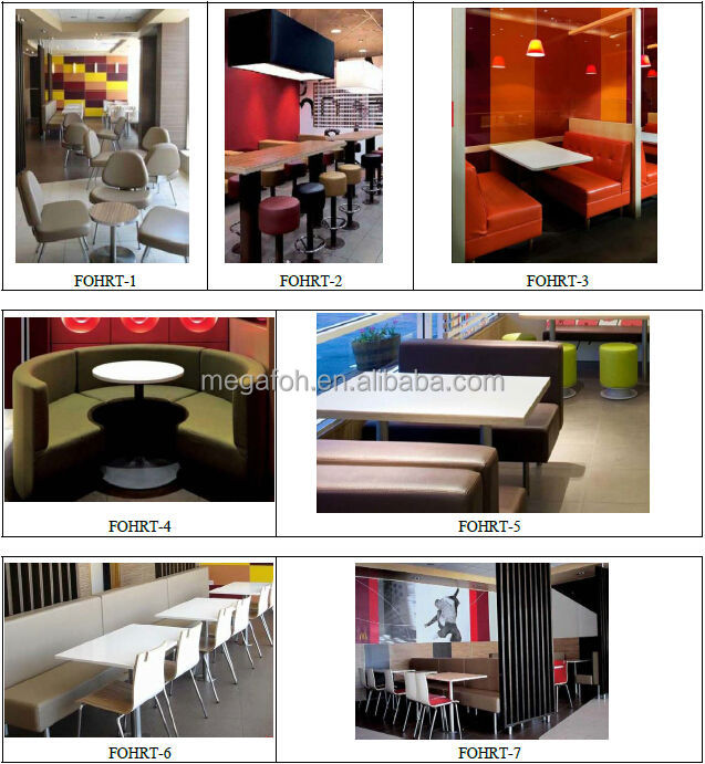 high end wood fast food restaurant furniture