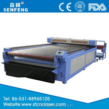 SF1630SC Leather Cloth Dress Laser Cutting Machine for Mass Business from Workshop