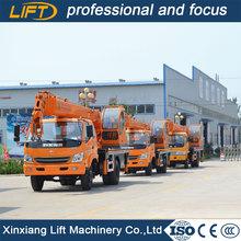 Telescopic boom hydraulic mobile truck crane 7 ton