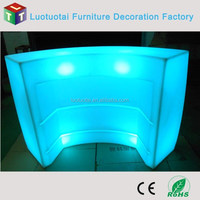 led bar furniture table remote control round bar counters