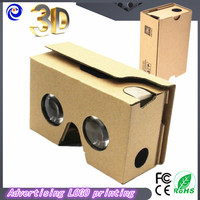 2015 Newest Google Cardboard 2.0 Virtual reality 3D glasses Box-style VR2 3d glasses with headband Christmas gift