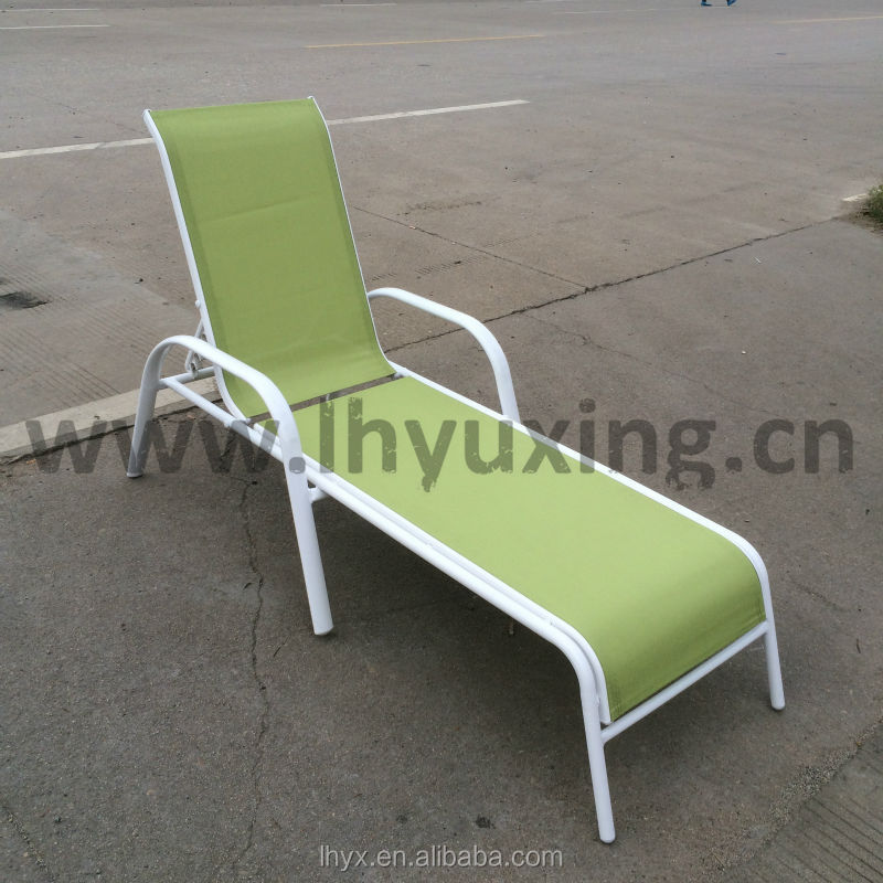 Cheap french chaise lounge outdoor stackable sling sunbed for Chaise lounge cheap uk