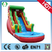 HI Top sales 100%PVC giant inflatable mini water slide