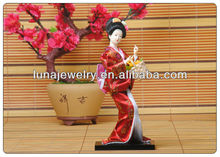 Red color 23cm japanese doll , fashion doll for home decoration