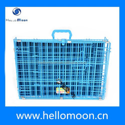 China Wholesale Iron Dog Cage With Plastic Pallet