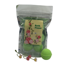15Gx6 Packaging For Christmas Gifts Green Apple Aroma Effervescent Bath Fizzle Fizzer Bath Bomb for Sale