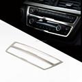 Coche estilo Interior de acero inoxidable consola central aire acondicionado ajuste de la cubierta para BMW serie 316 320I F35 F30 320 328 13 14