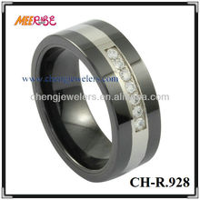 Fashion new jewelry Tungsten mens designer finger rings/couple diamond rings