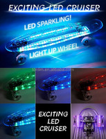 TLS-403A Hot Seling 22 inch PC board led light wheels LED skateboard