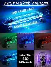 TLS-403A Hot Seling 22 inch PC board led light wheels LED skateboard