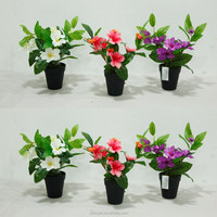 new design azalea flower in decorative pot factory cheap decorative artificial flower marking for party & home decor