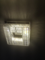 contemporary style led square crystal ceiling pendant lamp L470mm*W470mm*H170mm