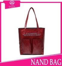 2015 Latest online shop alibaba wholesale large capacity felt fashion lady tote bag/ shopping handbags from China