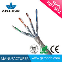 23awg 0.57mm 8 conductors bare copper Cat 7 STP / UTP Ethernet Cable