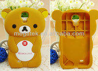 cute cartoon Rilakkuma 3d silicone case for samsung s4 , for samsung galaxy s4 case silicone,for samsung s4 case
