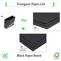 cartulina negro negro de papel de embalaje de papel